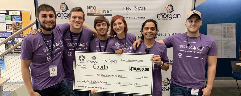 kent State team Copilot wins $10,000 SkyHack 2019 grand prize!