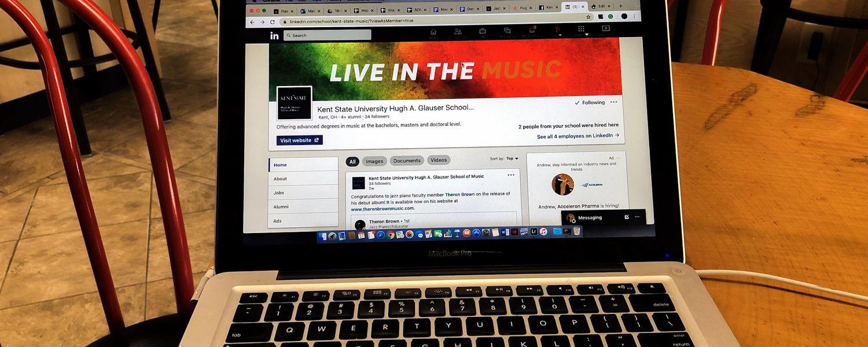 Laptop Displaying LinkedIn