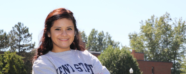 Kent State Ashtabula student Valerie Gonzalez