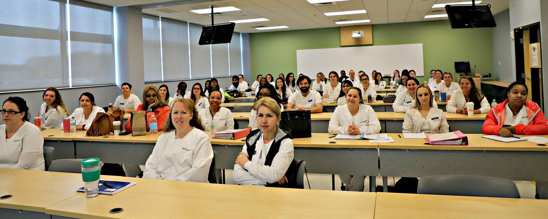 ADN Students at live surgery viewing