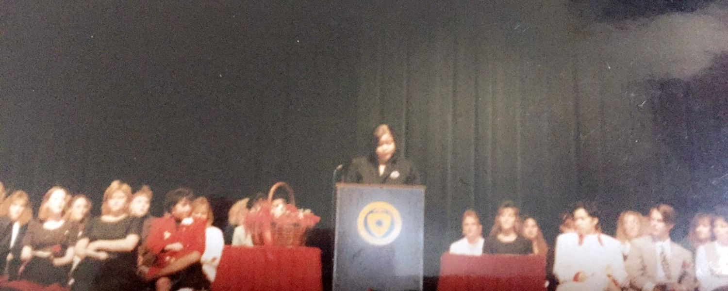 Shenell was selected to represent her class as a presenter at their 1995 pinning ceremony.