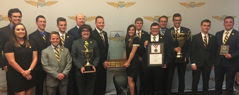 KSU Precision Flight Team Wins award in NIFA