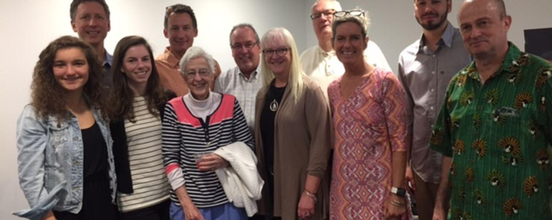 Anita Foote & Family, with Marty Hilovsky of EnviroScience, and Herrick Chair, Professor David Ward