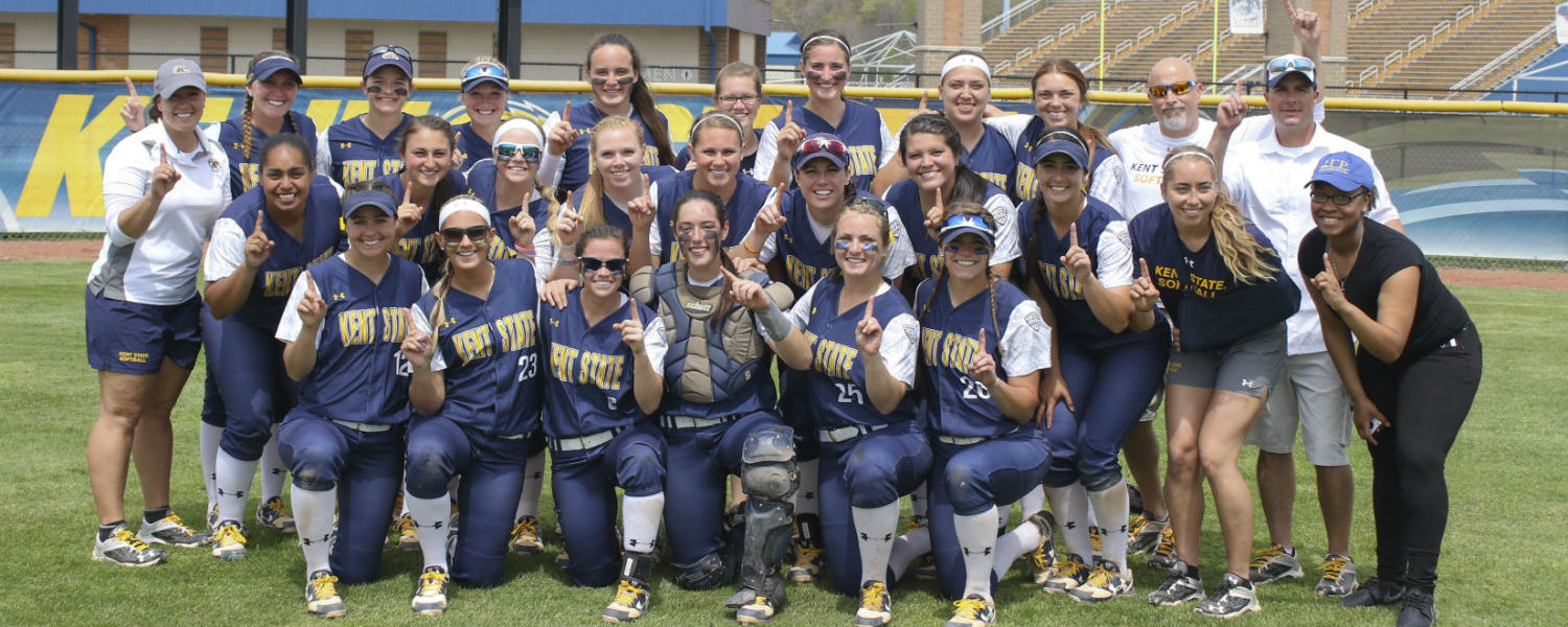 Kent State's softball team clinched a MAC regular season title after defeating Akron on May 7.