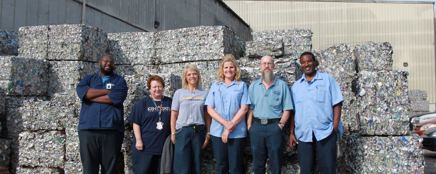 Kent State Custodial Staff tour Material Recovery Facility