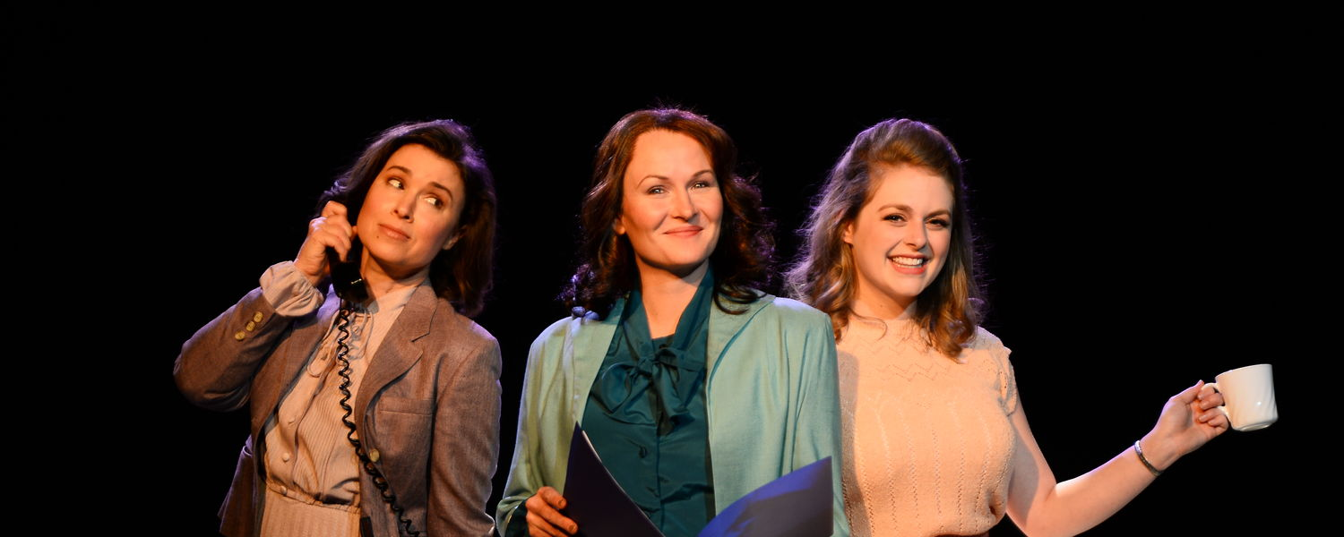 """Courtney Brown, Amy Fritsche, and Erin Diroll star in Porthouse's production of """"9 to 5"""""""