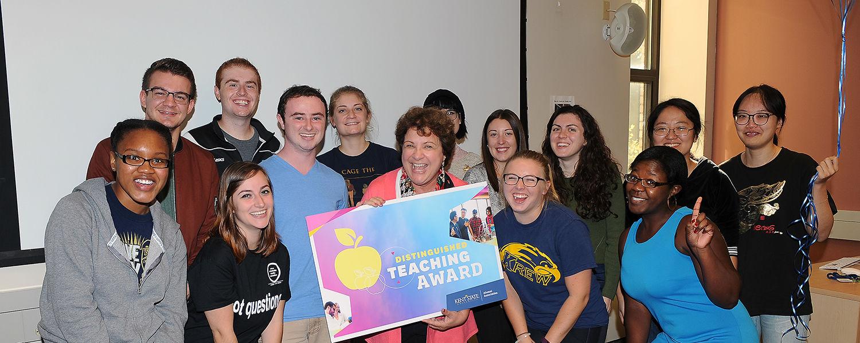 Jan Leach wins the Distinguished Teaching Award