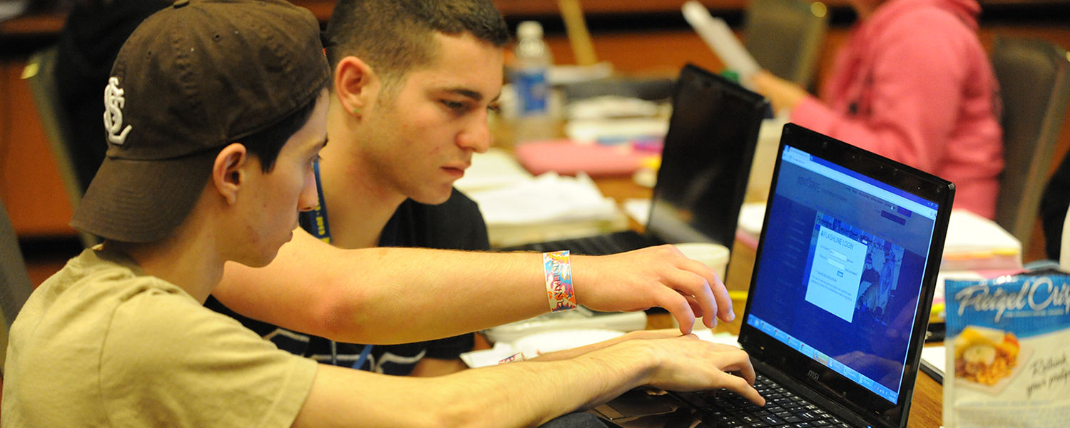 Kent State students work on a project during the annual Study-A-Thon held finals week in the Kent Student Center Ballroom.