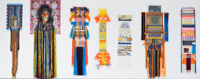 Cosmic Figures, weavings by Katlin Shae Rothacher