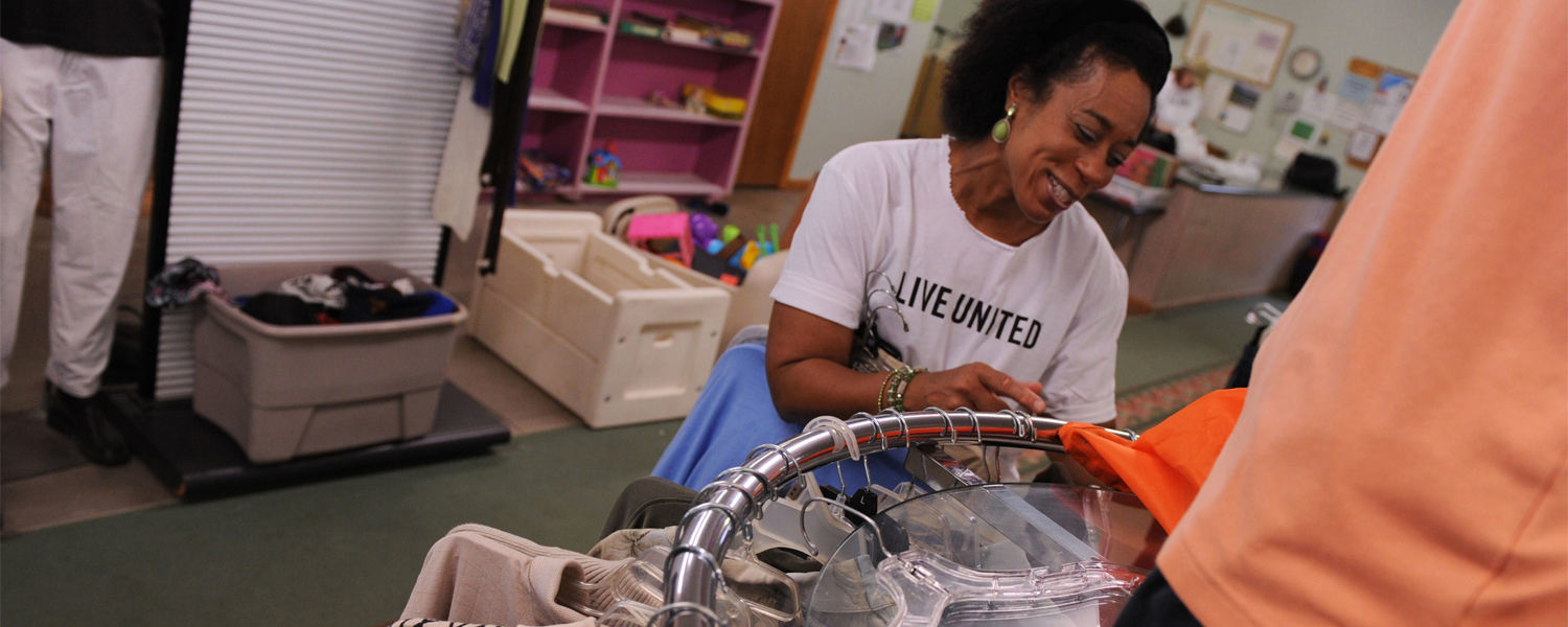 Kent State Staff Sorts Clothing at the Phyllis Zumkehr County Clothing Center