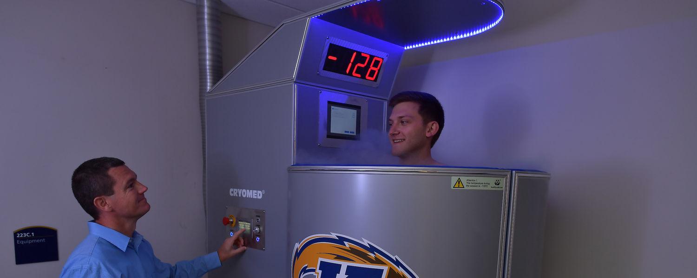 Photo of Kent State University Cryotherapy Chamber.