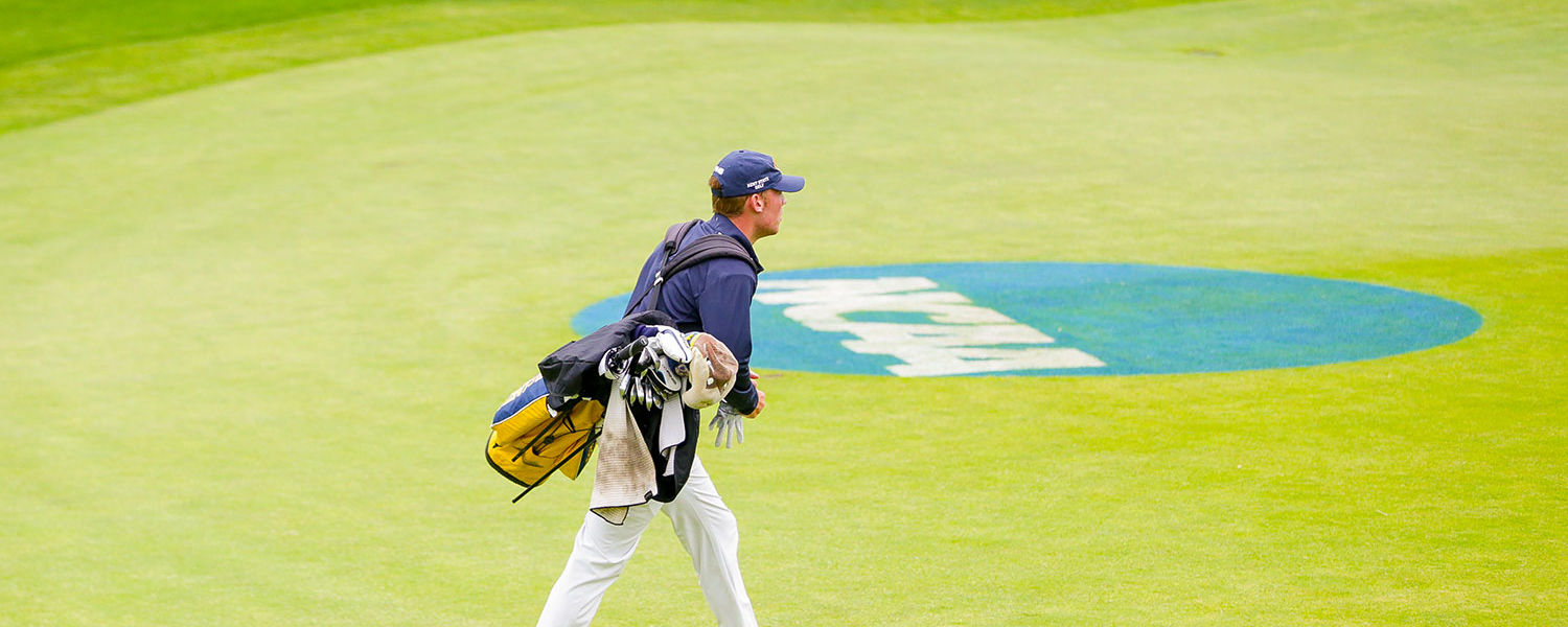 Kent State junior Ian Holt walks the course in Sammamish, Washington. The Kent State men's golf team finished second at the NCAA Washington Regional and advances to the NCAA Championship.