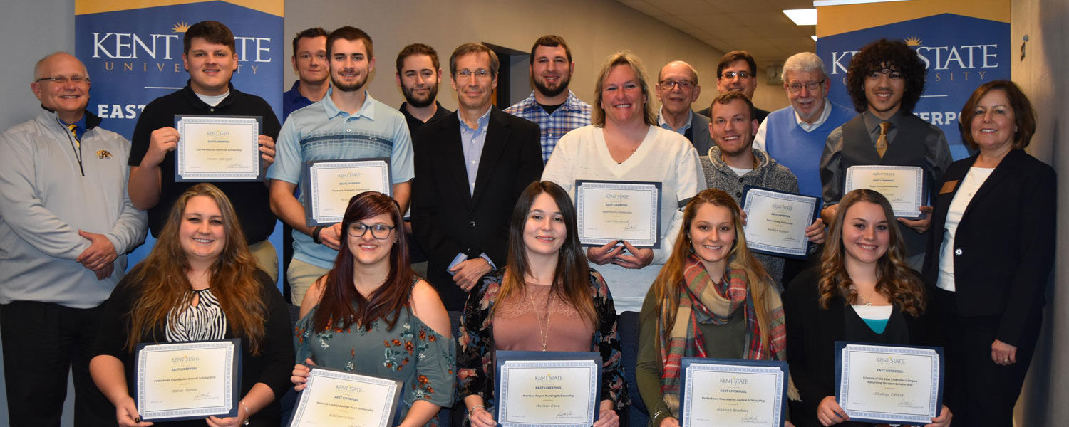 Kent State East Liverpool Recognizes Outstanding Students