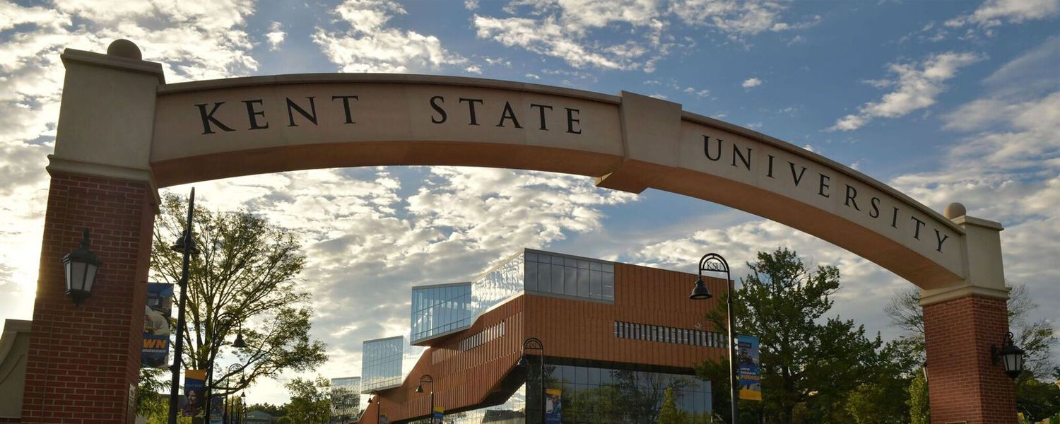 Kent State University Arch at the Entrance