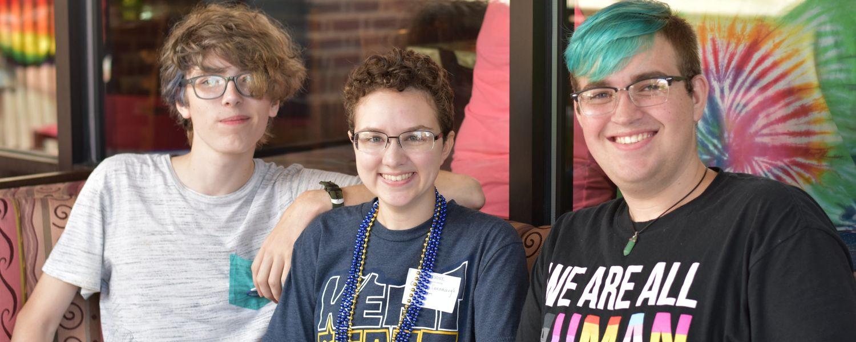 Group photo LGBTQ Tailgayte 2018 celebration