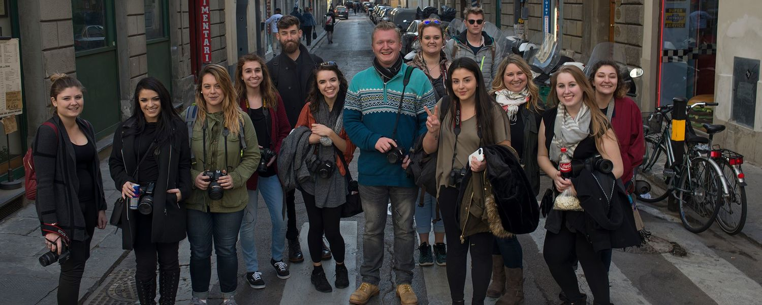 Group of students in Florence
