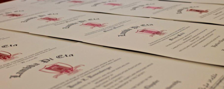 Picture of Lambda Pi Eta certificates