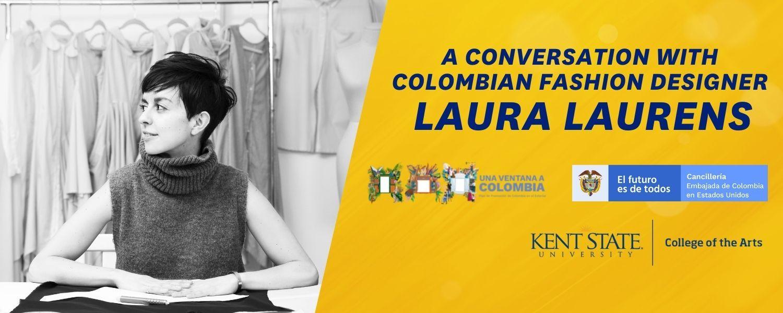 Photo of Colombian fashion designer Laura Laurens