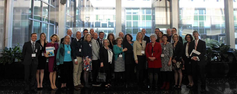 Linda Robertson with group in Washington DC