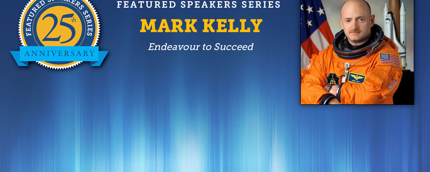 Featured Speaker Mark Kelly to speak on March 30