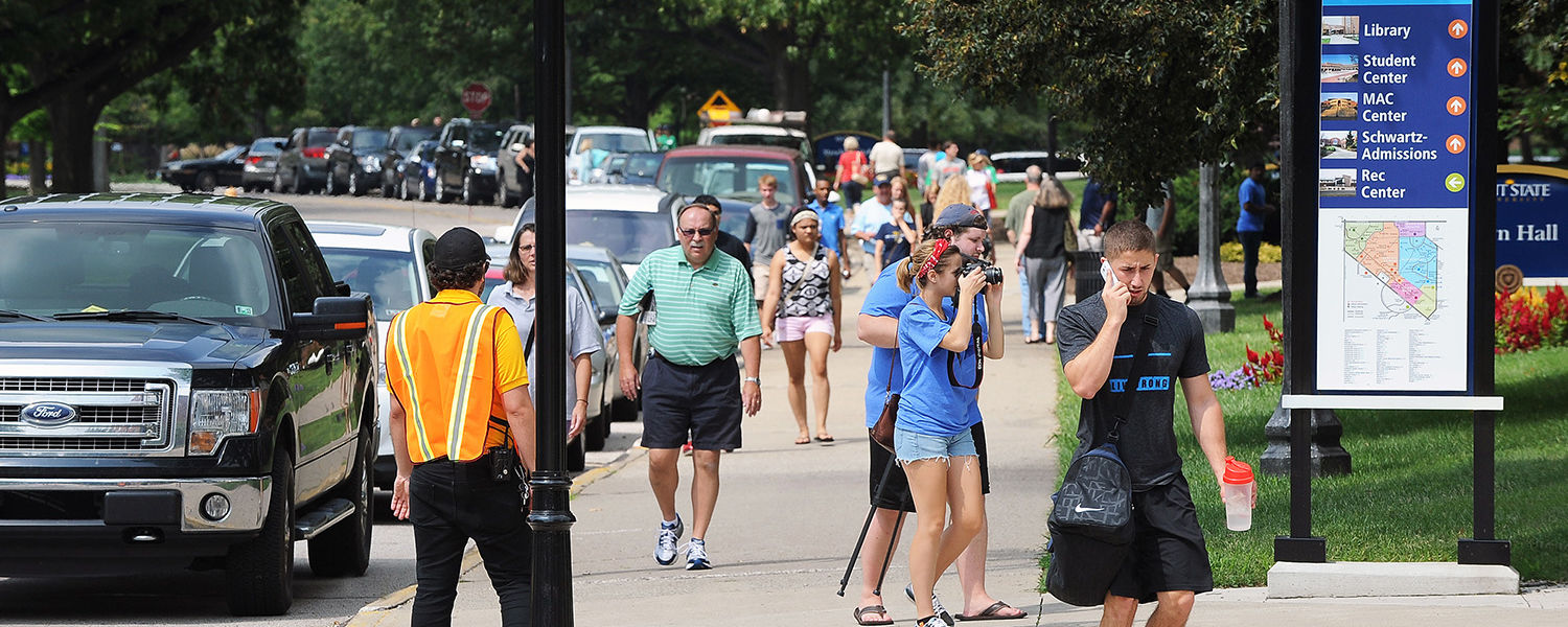 Campus comes alive with activity as new Kent State students and their families arrive for freshman move-in day during Welcome Weekend.