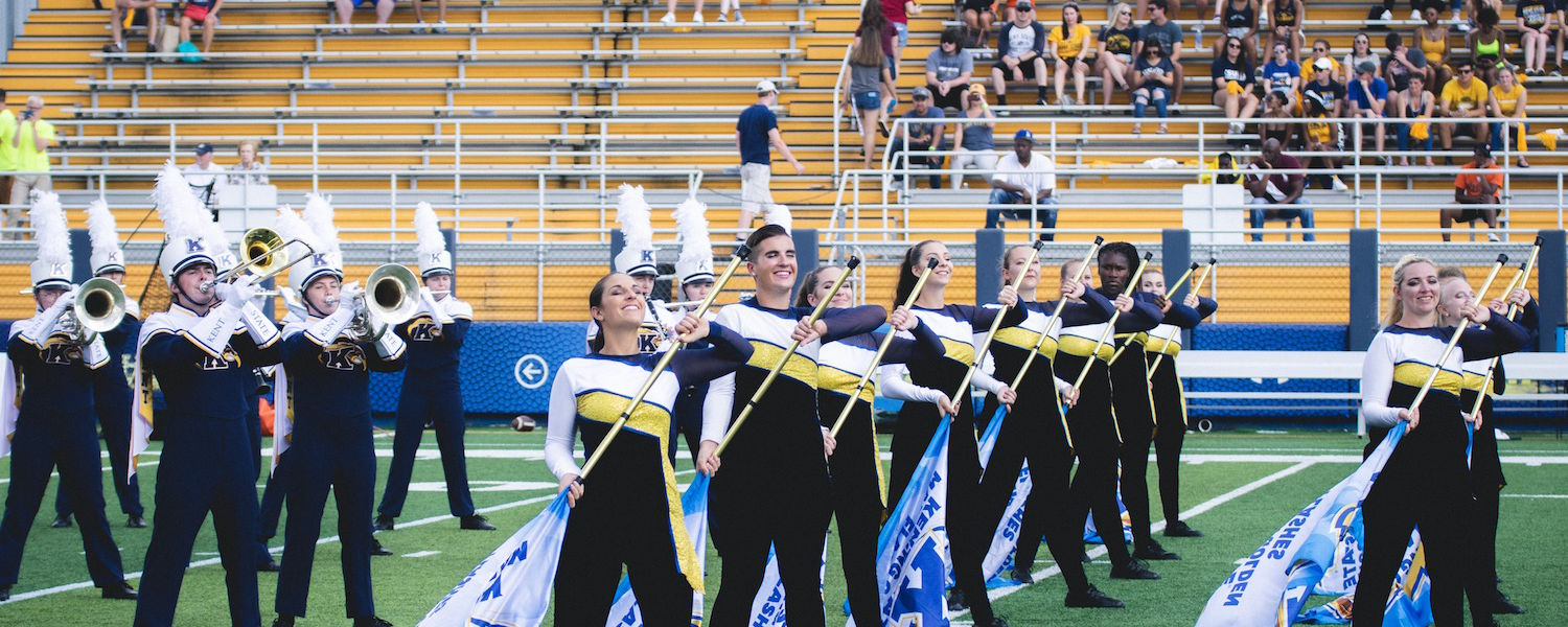 Marching Golden Flashes Color Guard