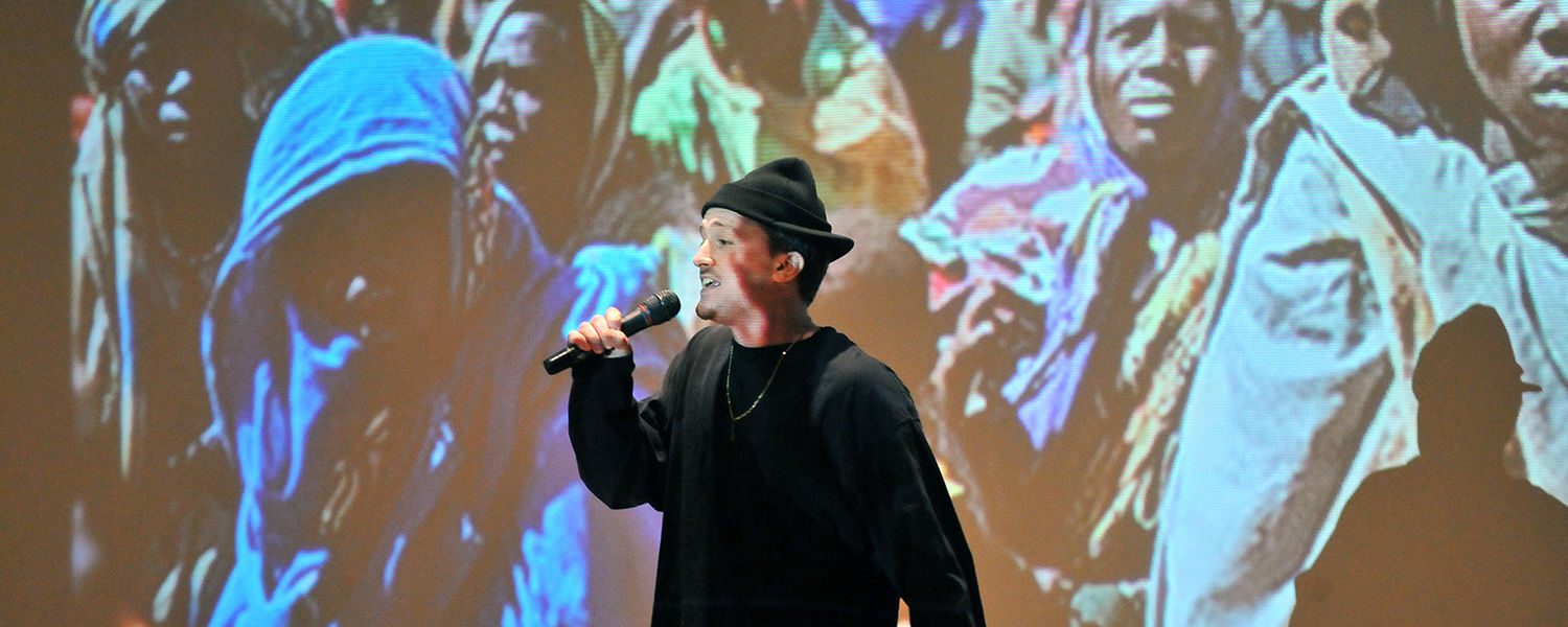 A Kent State student performs during  last year's 10th Annual Martin Luther King Jr. Celebration, in the Student Center Ballroom.