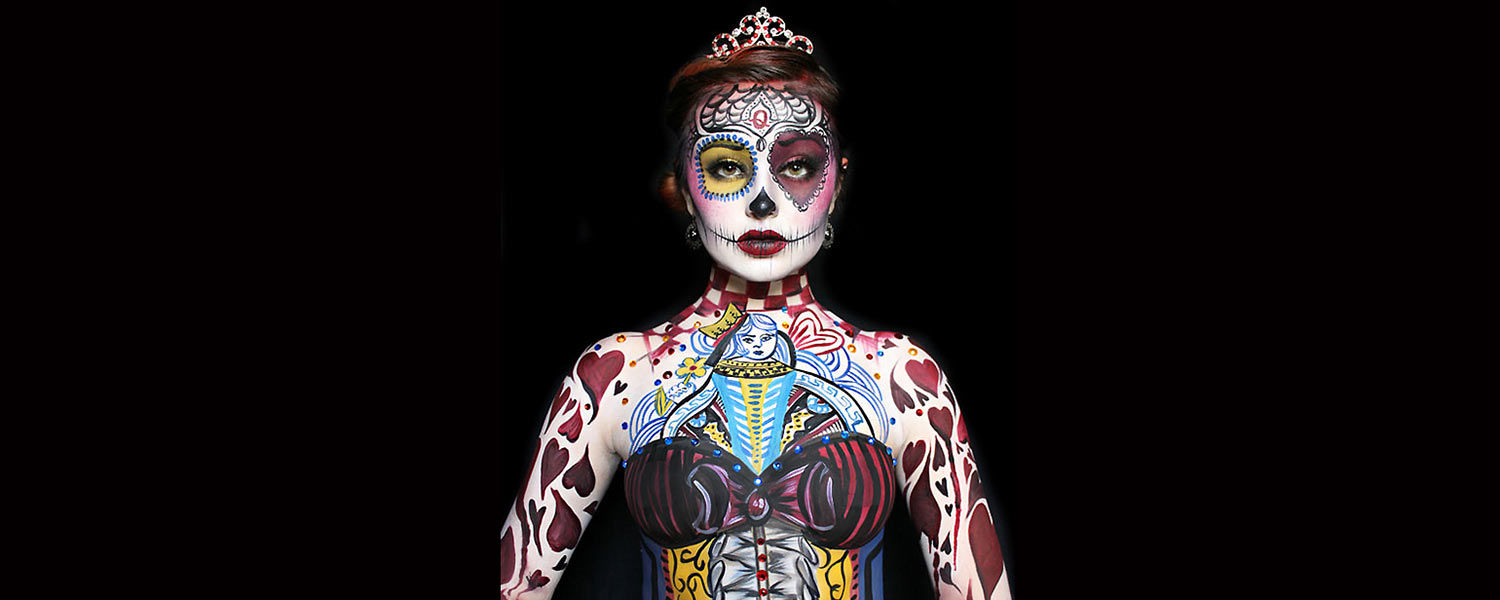"""Carrie Esser used water-based body paint to turn herself into a """"queen bee."""" Her artistry landed her in the second round of the NYX Cosmetics 2018 Face Awards USA."""