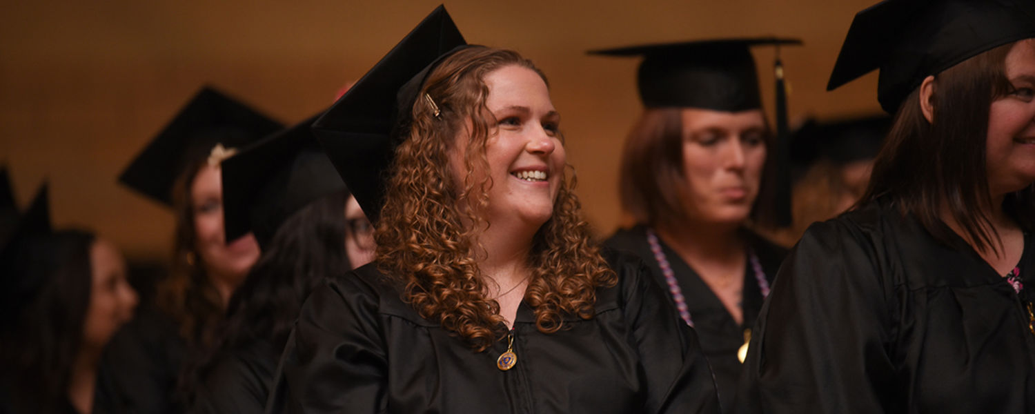 Ashtabula campus graduate at Spring 2019 Commencement