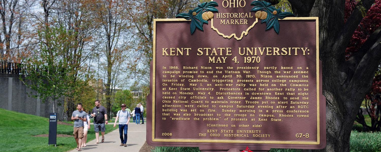 Kent State University May 4, 1970, Historical Marker