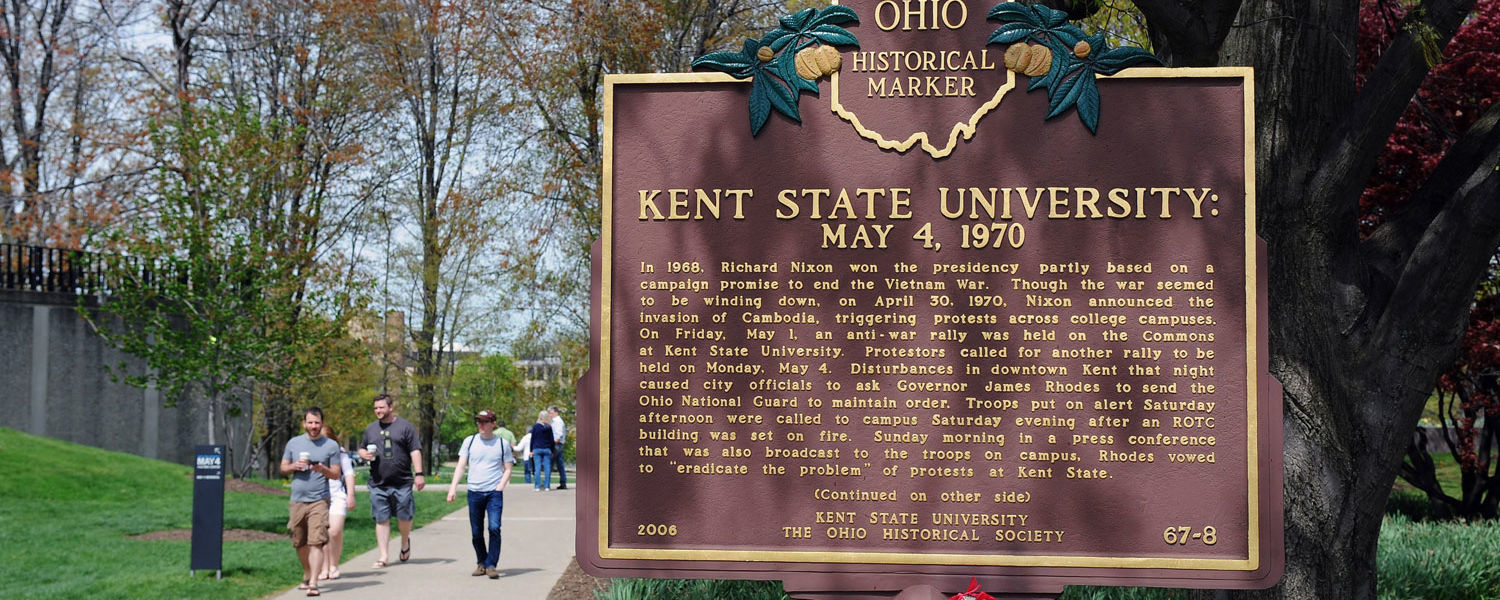 Kent State University May 4, 1970, Historical Marker