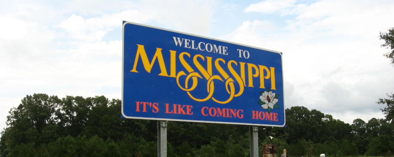 Welcome to Mississippi, U.S. 61 Northbound