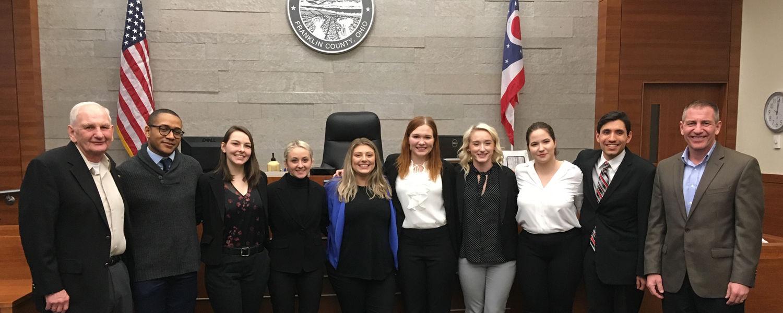 Kent State University's 2019 Mock Trial Team