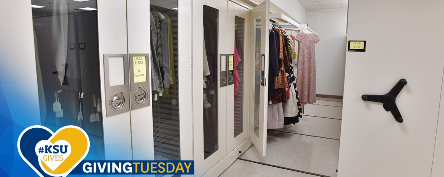 2018 Giving Tuesday Logo with Museum Storage Facilities
