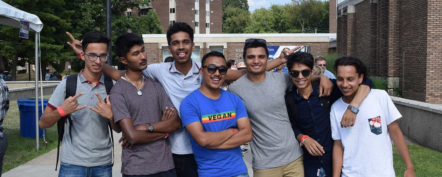 Seven Nepali Friends and Students at Kent State