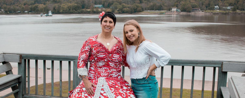 Joanna Wilson and Alyssa Hertz