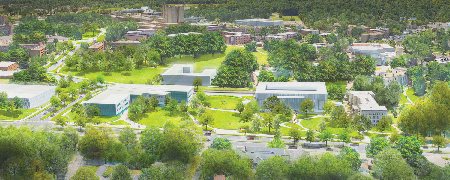 Conceptual rendering of the proposed Main Street gateway to the Kent Campus.