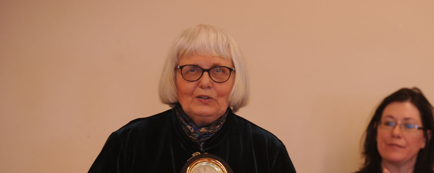 Dr. Dolores Noll, emeritus professor of English and pioneer for LGBTQ+ rights and people, received the Diversity Trailblazer Award in 2010.
