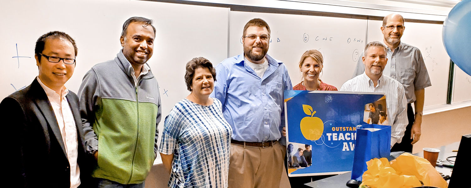 David Bowers Recieves a Surprise Visit and an Outstanding Teaching Award
