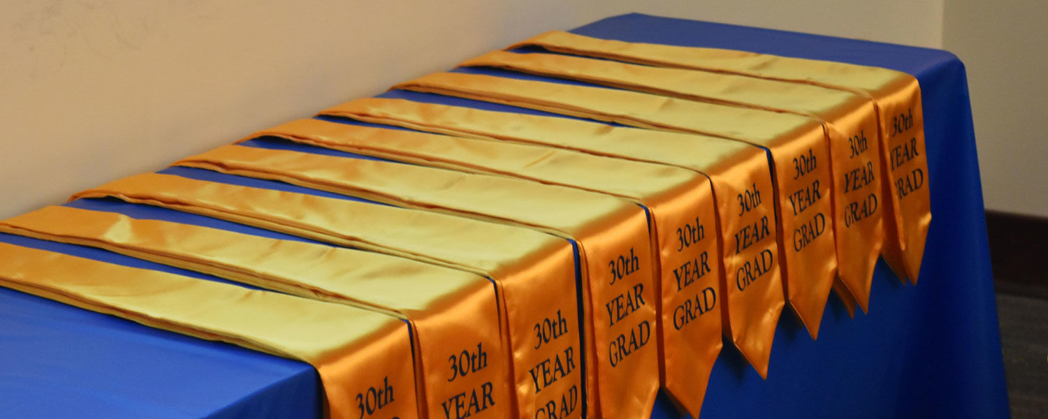 Each student received a special stole, recognizing the 30th anniversary of the PTA program at Kent State East Liverpool