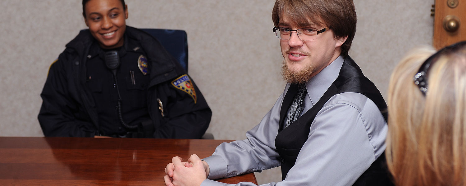 Kent State student Josh Paulin recounts the story of assisting someone at a Kent State bus stop earlier this year, prior to receiving the Public Safety Citizen's Award for his heroic action.