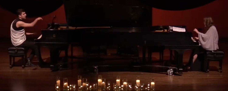 Students Alexandre Marr & Gréta Pásztor Perform During the Piano Division Scholarship Gala Concert