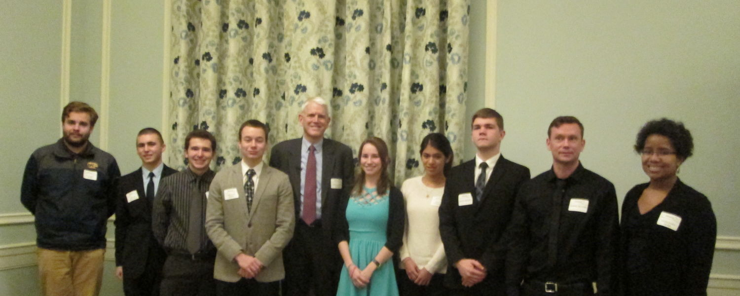 CAS Learning community students attended one of the Cleveland Council on World Affairs speaker series at the Union Club of Cleveland. The speaker of the evening was Ambassador Steven Pifer.