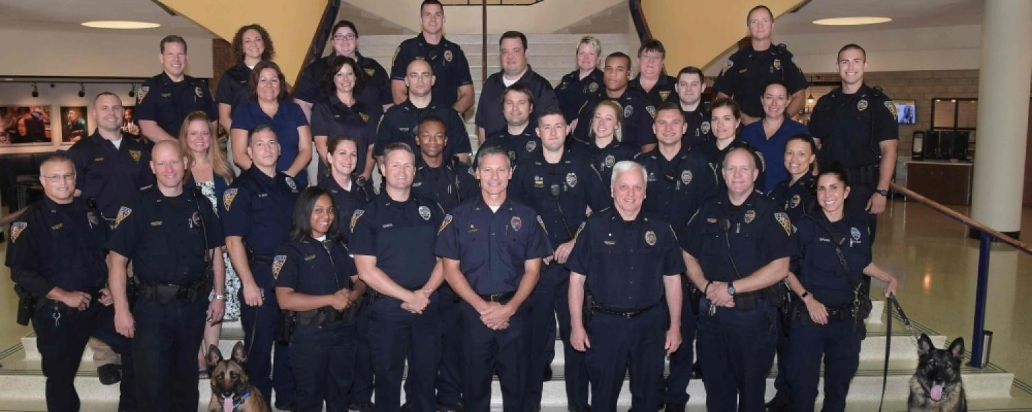 Photo of the members of the Kent State Police Department