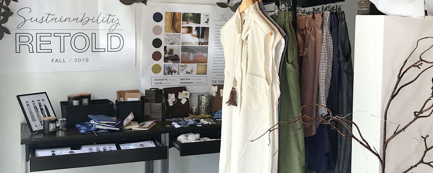 The FSStore's new line features sustainable fashions, accessories and home goods made by Fashion School students and faculty