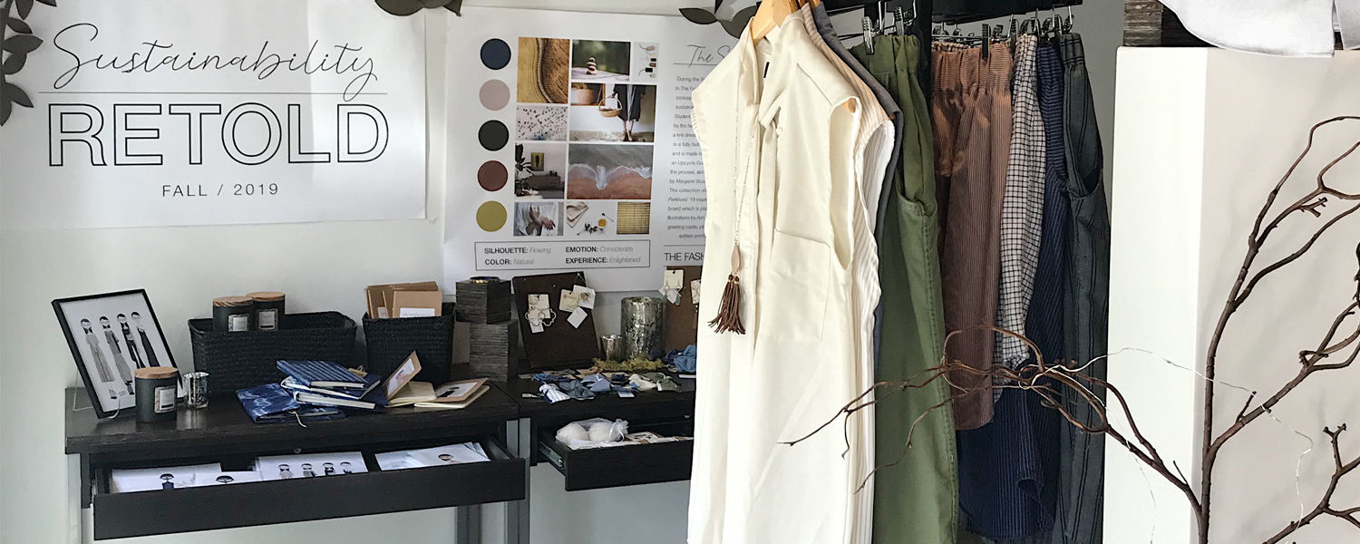 The FSStore's new line features sustainable fashions, accessories and home goods made by Fashion School students and faculty.