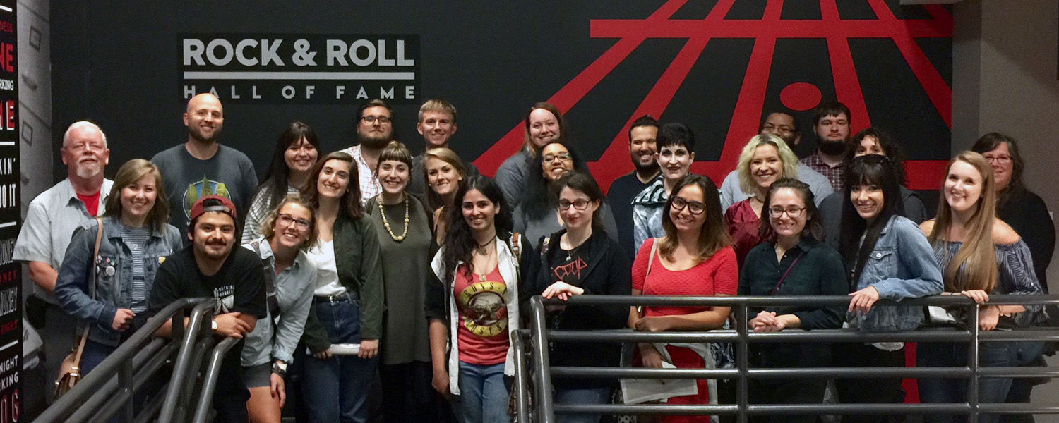 The class privately toured Rock Hall's Rolling Stone 50th anniversary exhibit on Sept. 12