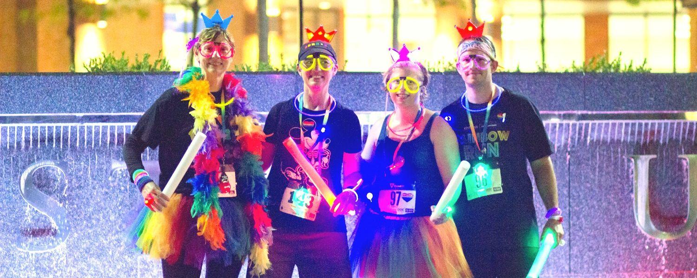 Participants for 2018 Rainbow Run show their glow