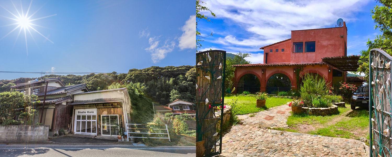 Artist residencies - Studio Kura (left) and Arquetopia Foundation (right)