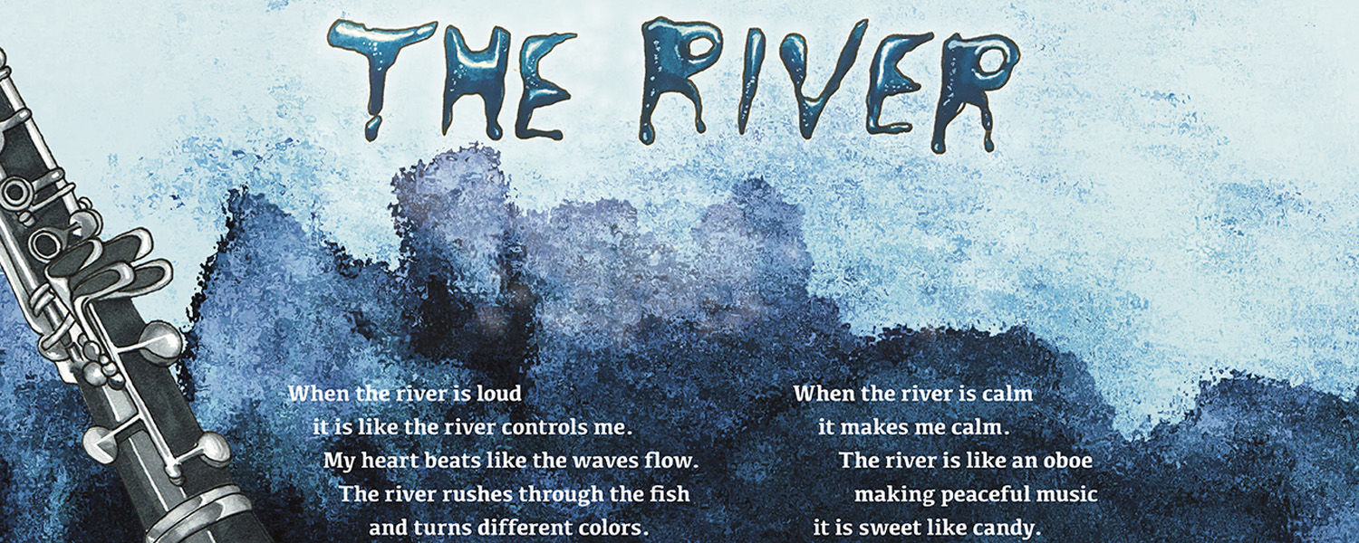 IMAGE: GROUP POEM BY KENT PARKS AND RECREATION SUMMER CAMP, DESIGN BY ANNA MOOREHEAD